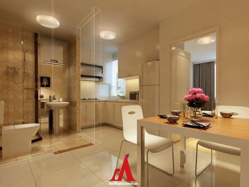 Phòng bếp tránh sát với phòng ngủ, nhà vệ sinh hay phòng tắm
