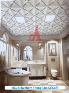 trần nhôm phòng tắm cổ điển