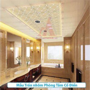 thiết kế trần nhà vệ sinh đẹp