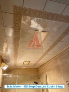 trần nhôm phòng tắm đẹp