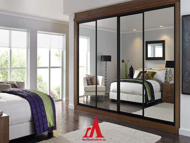 Tránh để gương đối diện gường ngủ