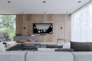 Ốp gỗ phòng khách