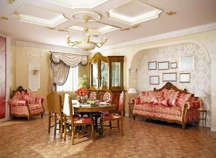 Lựa chọn những loại nội thất kiểu cách cho hệ trần nhà thạch cao cổ điển