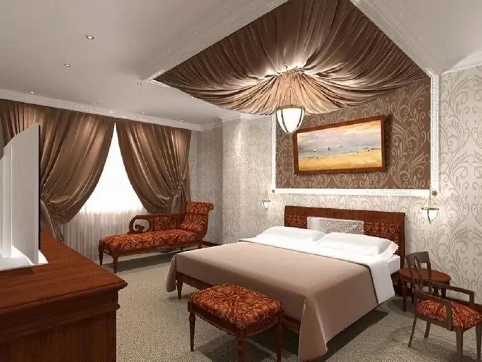 Mẫu Trần Thạch Cao Phòng Ngủ nhỏ, đẹp, đơn giản và cổ điển