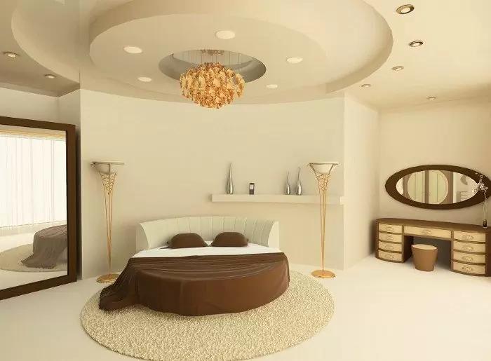 Phòng ngủ thoáng đãng kết hợp với các mẫu trần thạch cao phòng ngủ (hoặc la phong) đơn giản, không cầu kì